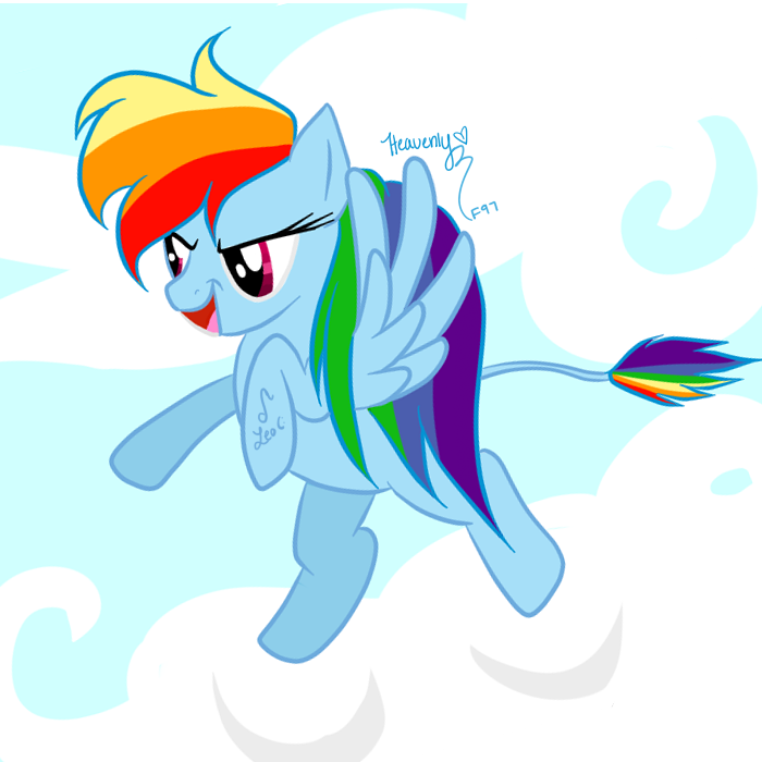 Rainbow Dash the Leo! by SephoraInSpace