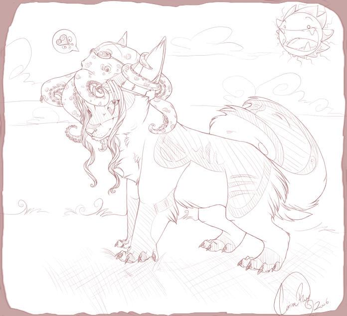 Sketch Comission-Kitty-lynn by Andoledius