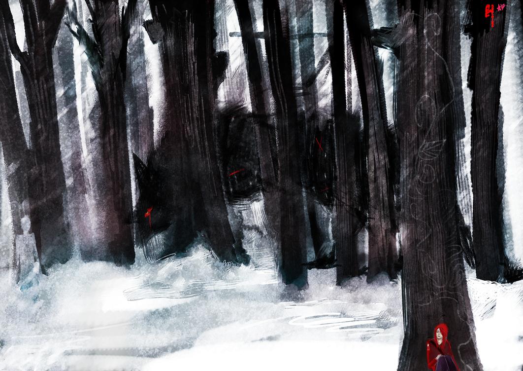 What a big wolf by Arcana-break