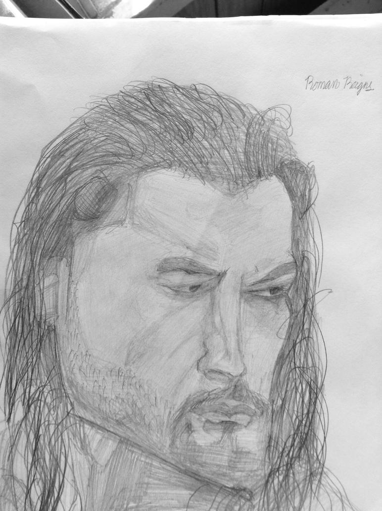 how to draw roman reigns