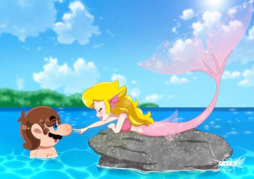 Mario and Mermaid Peach