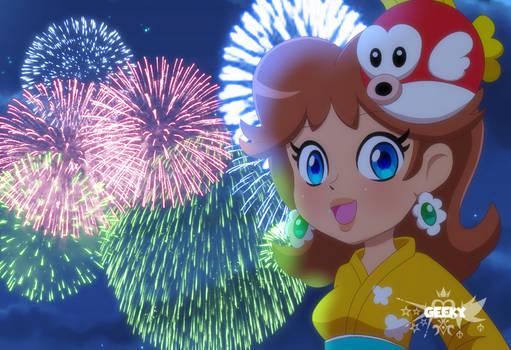 Daisy festival fireworks