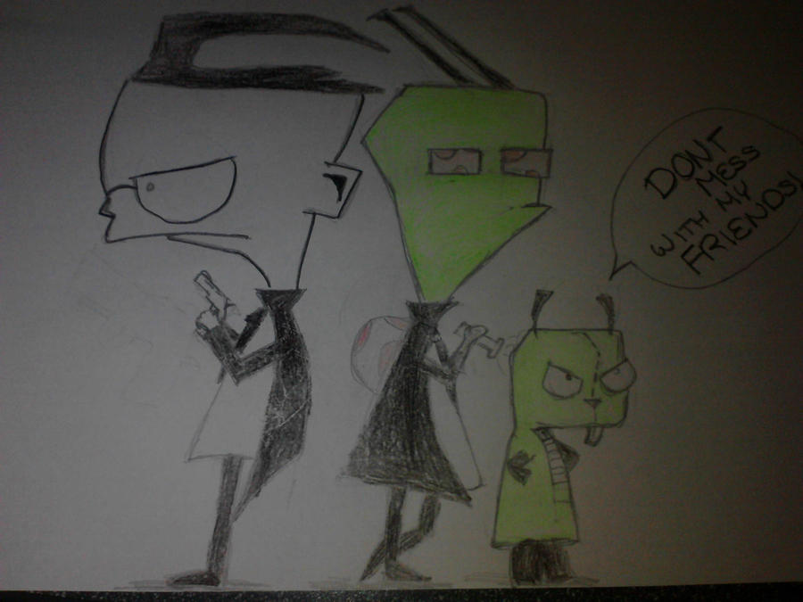 Skyfall, Invader Zim style by thegeek24
