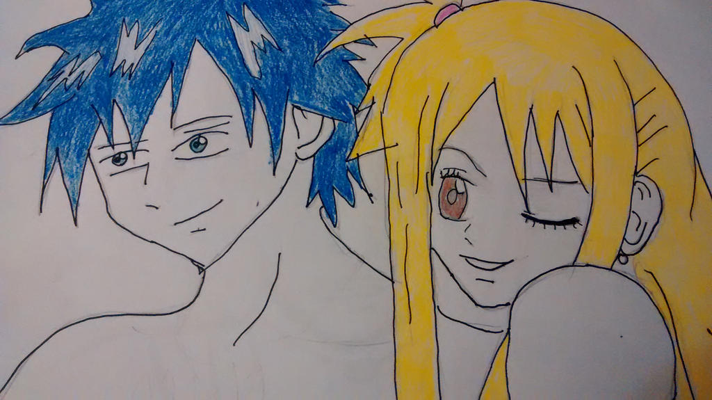 Gray And Lucy :D by thegeek24