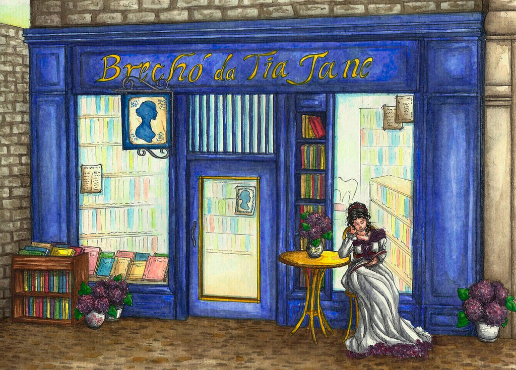 Commission - Jane Austen Shop by MadMonaLisa