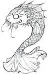 Koi-dragon: Colour me in :