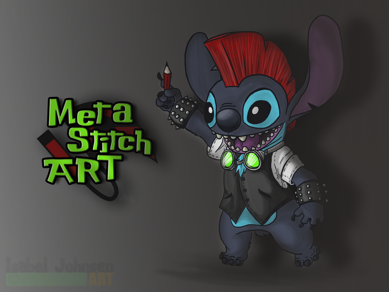B-DAYGIFT - META Stitch ART by issabissabel