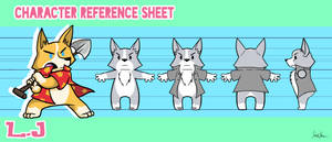 L.J Character Reference Sheet by issabissabel