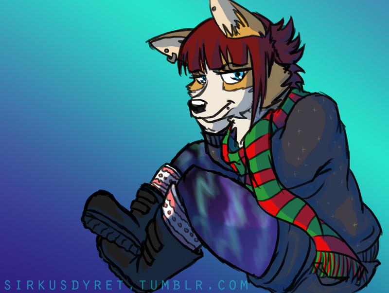 Christmasy Fursona - IDEK by issabissabel