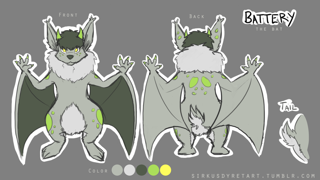 Battery - Fursona by issabissabel