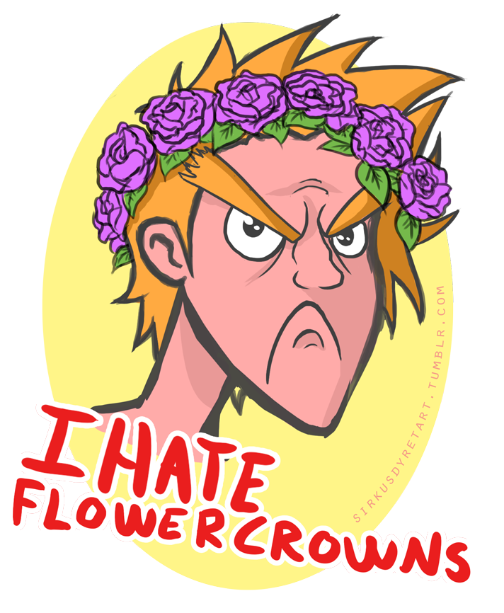 IHE - I Hate Flower Crowns by issabissabel