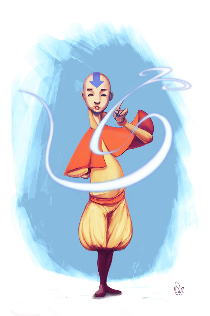 The last air bender by Qeir