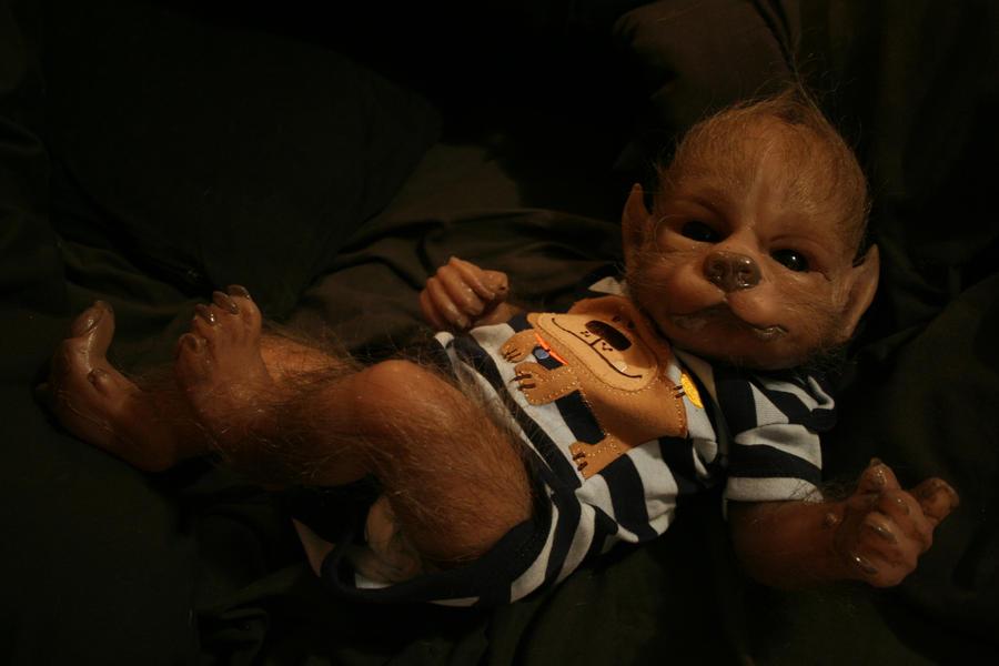 David the baby werewolf by WerePups
