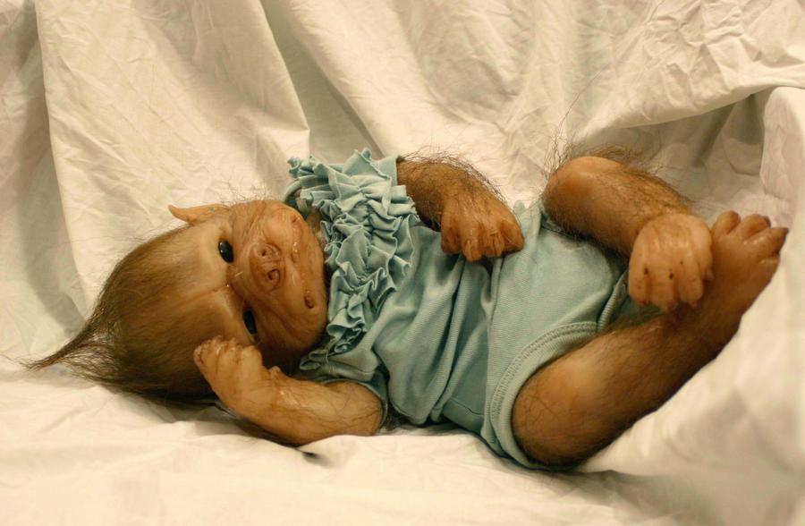 Esile the WerePup - little werewolf baby girl by WerePups