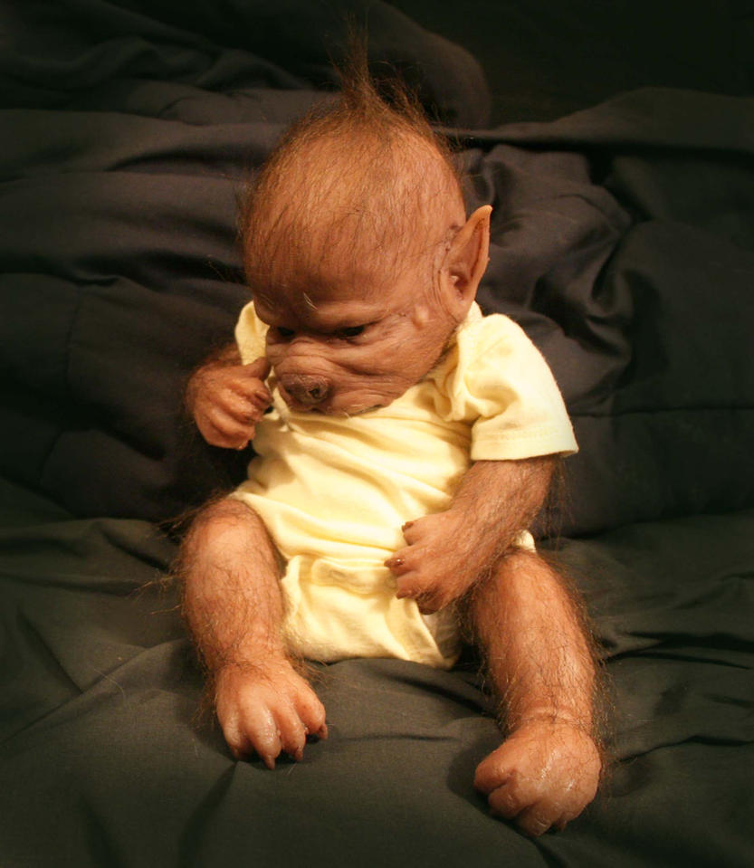 baby werewolf puppy by WerePups