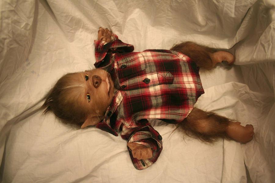 baby werewolf by WerePups