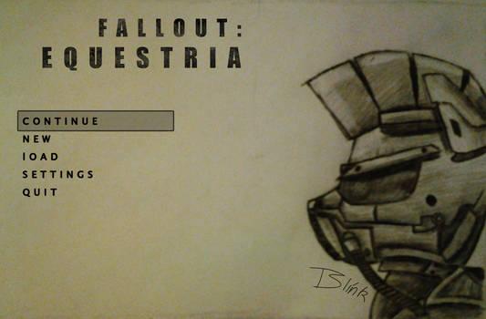 Fallout Equestria Start Screen (ATG Day 9)