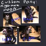 Finished nightmare moon pony