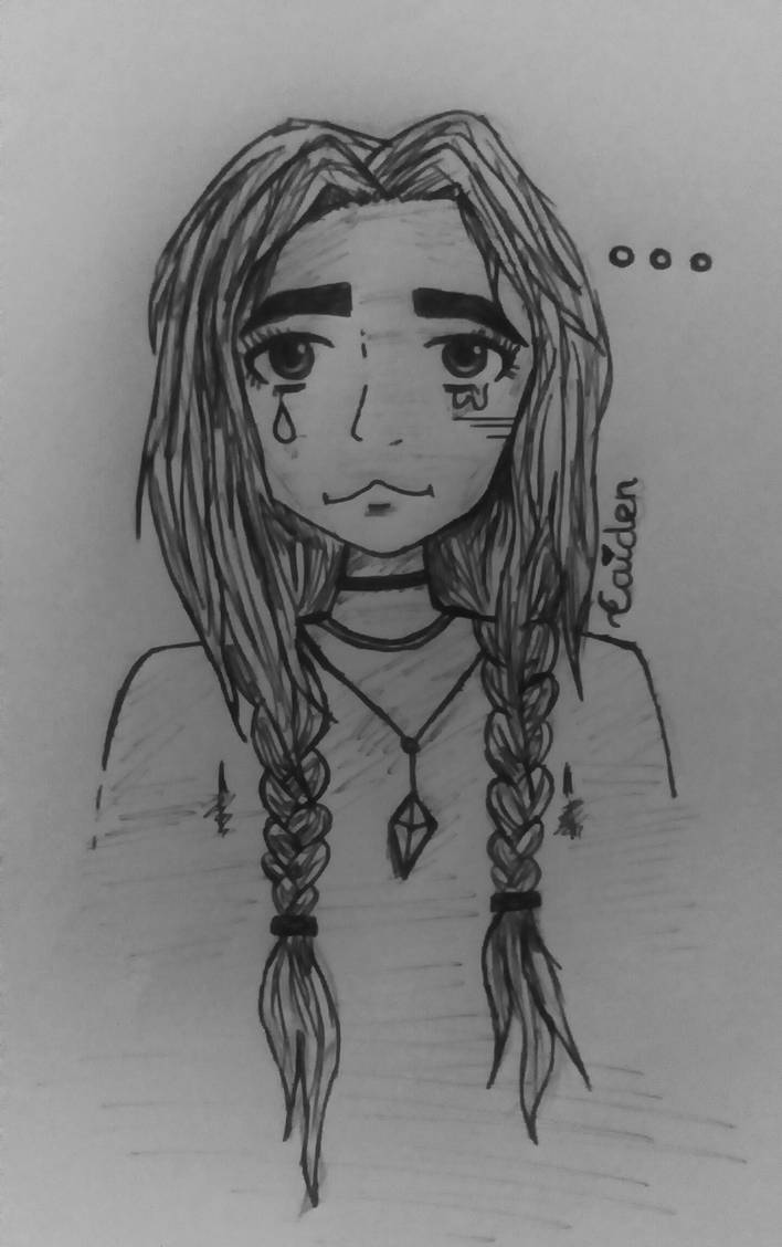 Final result or sad girl drawing by chickannugget