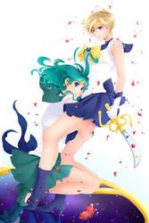 Sailor Uranus and Neptune by Simona018