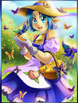 Ushico Butterflies and peaches by Amelie-ami-chan
