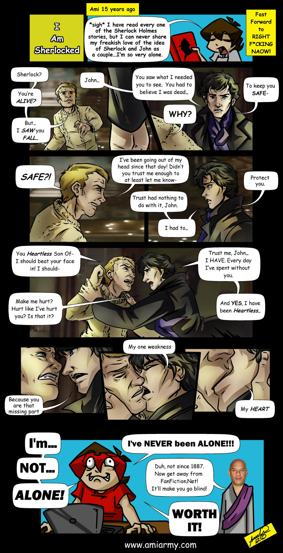 Sherlock comic...cuz I'm sherlocked by Amelie-ami-chan