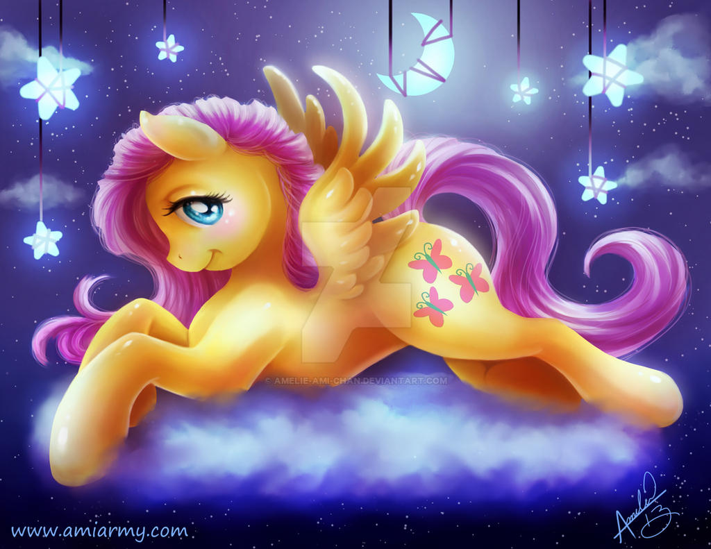 Fluttershy in the sky by Amelie-ami-chan