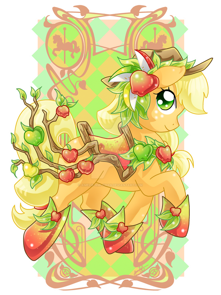 Apple Jack Carousel Cutie by Amelie-ami-chan