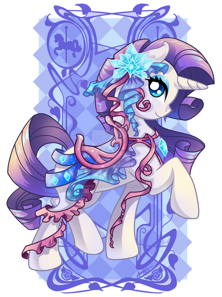 Rarity Carousel Cutie by Amelie-ami-chan