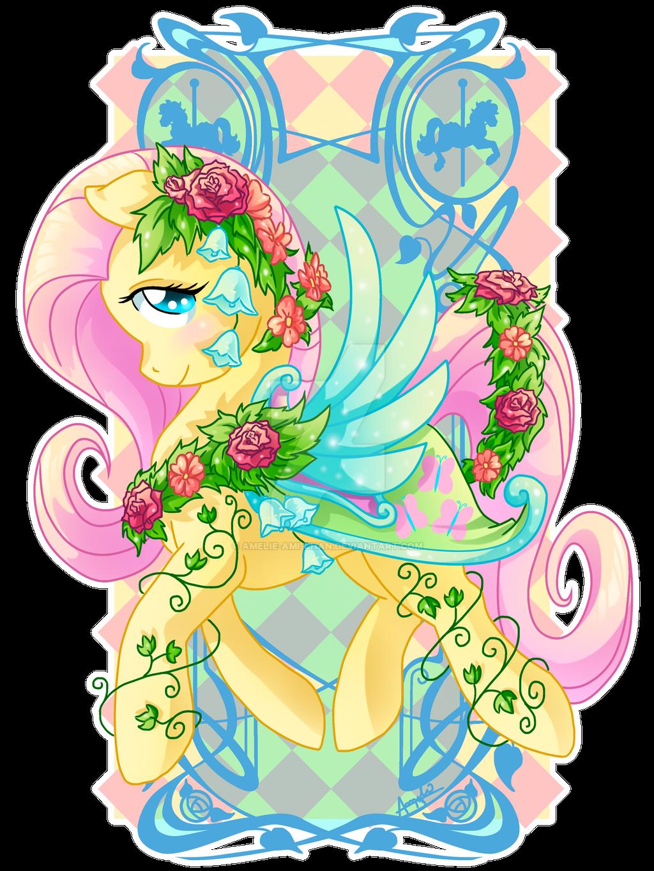 Fluttershy Carousel Cutie by Amelie-ami-chan