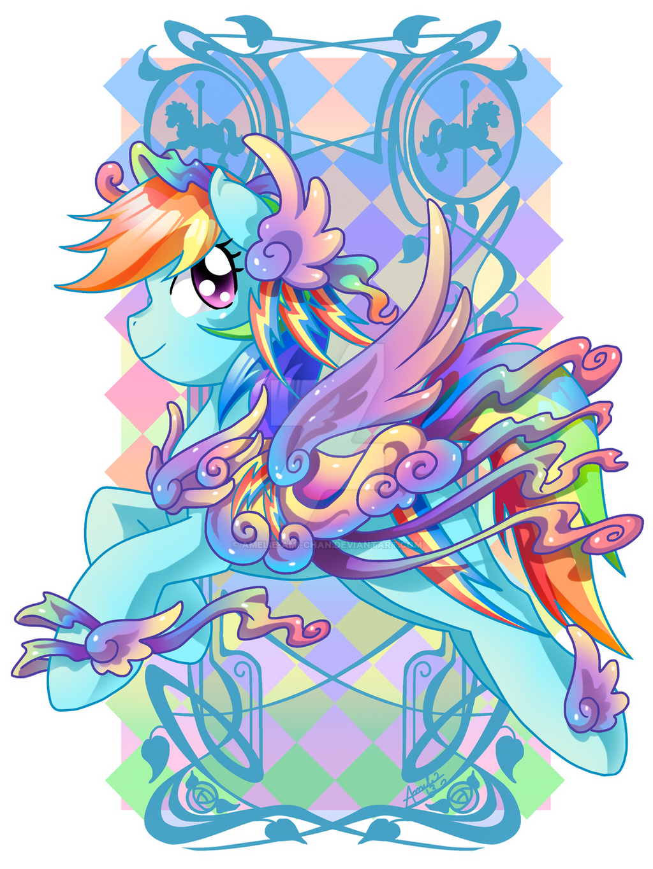 Rainbow Dash Carousel Cutie by Amelie-ami-chan