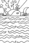 -Whale spreading love across the horizon-