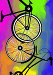 -Bikes chained- Color