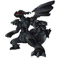 Zekrom Sprite by Veil-Wolf