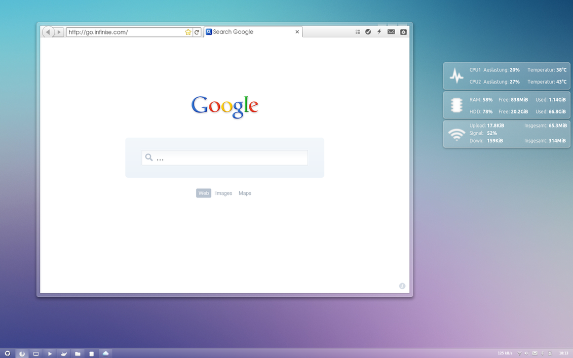 Glassy desktop by BigRZA
