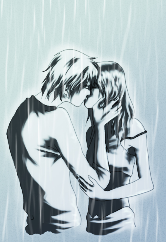 Rainy kiss by Nekonyo on DeviantArt