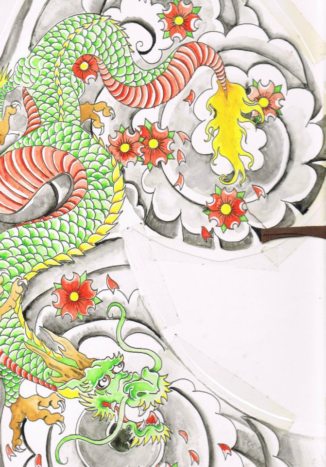 Mune Irezumi (Half Chest ) by unrested