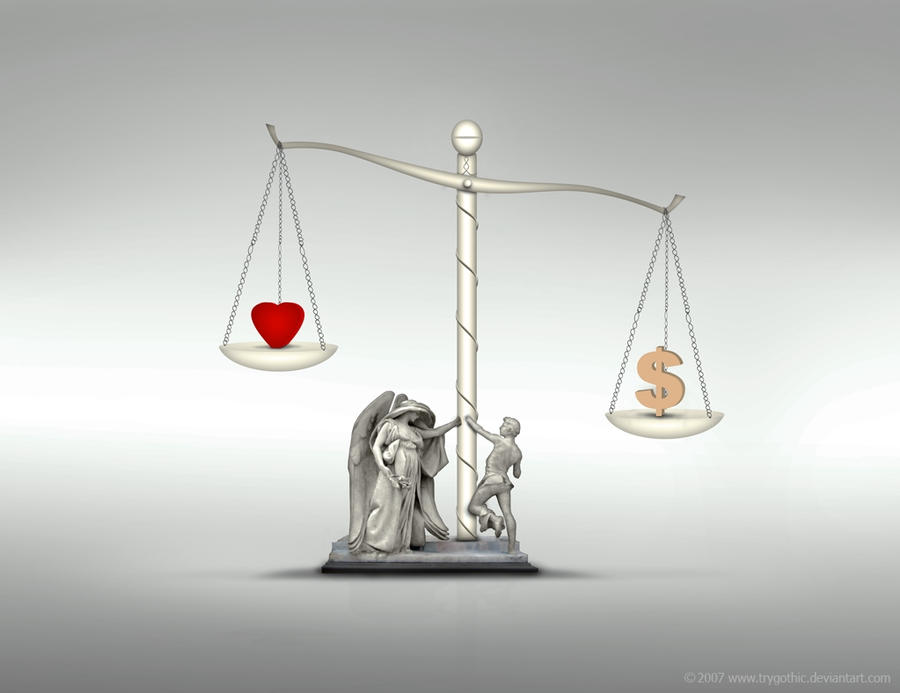 Love Vs Money by trygothic
