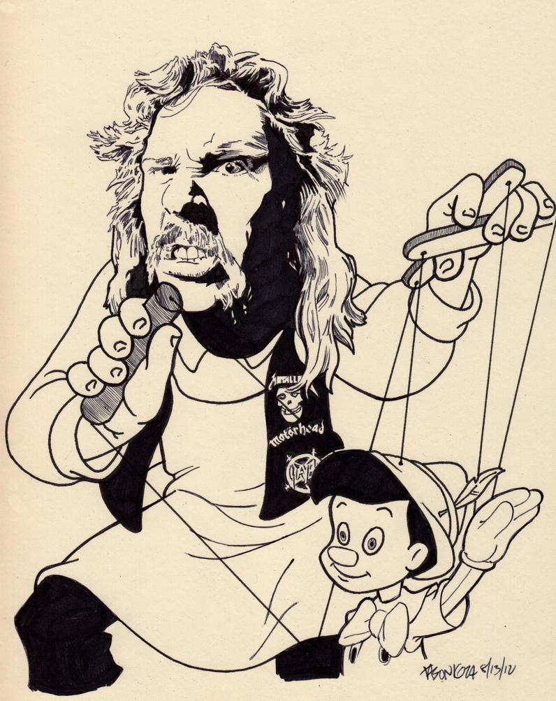 Master of Puppets...  James Hetfield by JasonKoza