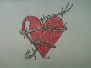 heart in barbed wire by acdcfan1234 on DeviantArt