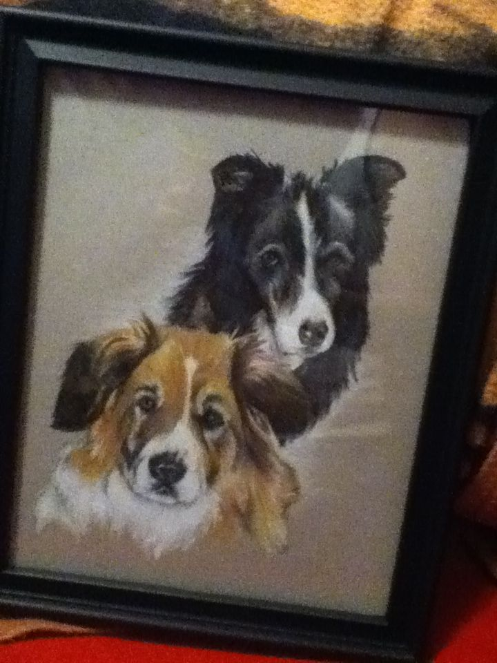 Dog Pair Portrait Commission by acdcfan1234