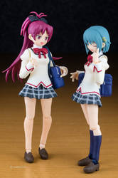 [figma] Kyouko and Sayaka uniform ver. (1) by wata1219