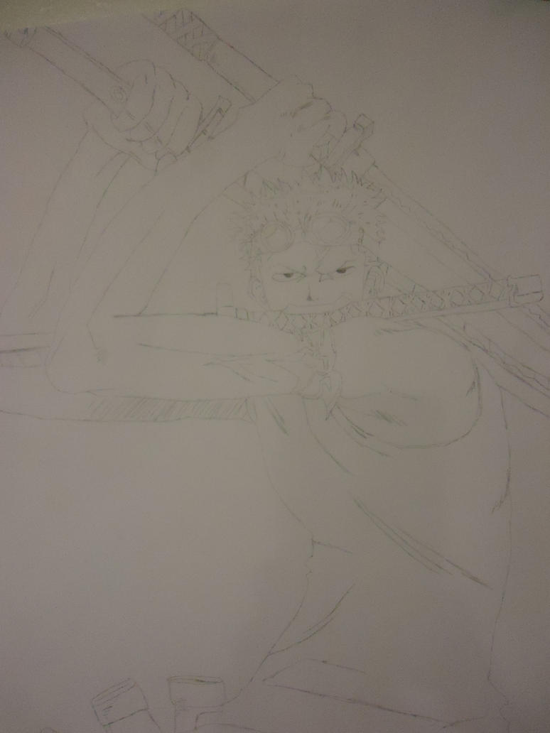 My Drawing Of Vasto Lorde Ichigo - Page 2 Roronoa_zoro_by_gear2ndoluffy-d4idmif