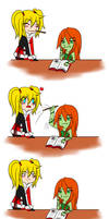 pocky kiss? by PeppermintBat