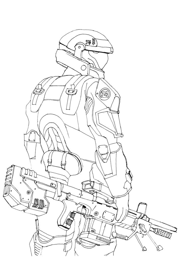 D Line Drawings Locations : Halo reach lineart by petarmkd on deviantart