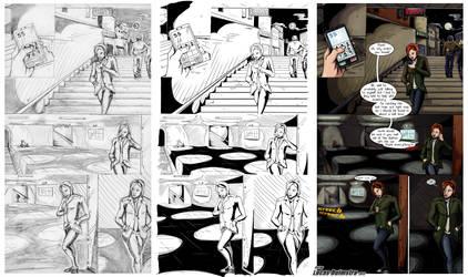 Spider-man Sample page (Pencil,ink,color,letter) by LucasDuimstra