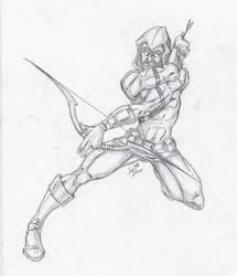 Green Arrow sketch by LucasDuimstra