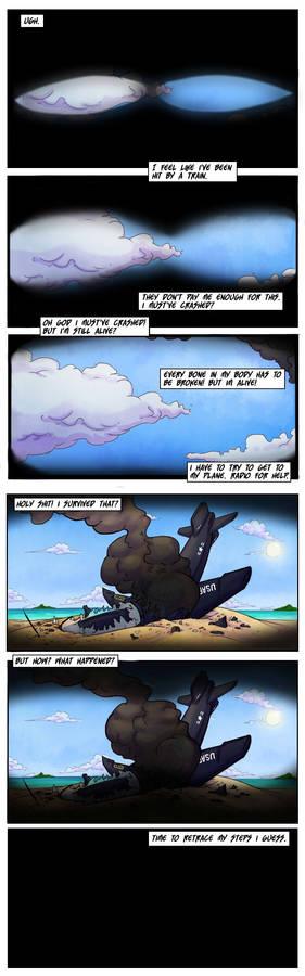 Sandbag webcomic pages 1-2