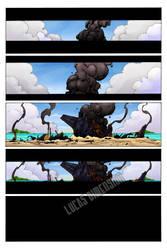 Sandbag comic Issue 1 Color Page 1 - WIP