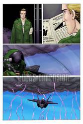 Sandbag comic Issue 1 Color Page 3 - WIP